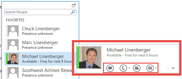 Outlook Tip: Using Outlook 2013's People Peek | Michael