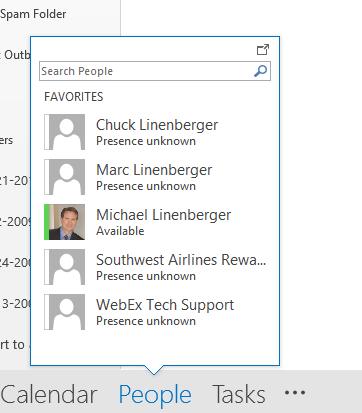 Outlook Tip: Using Outlook 2013's People Peek   Michael